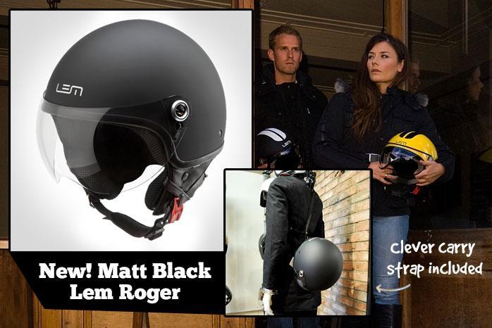 LEM ROGER CLASSIC HELMET - MATT BLACK
