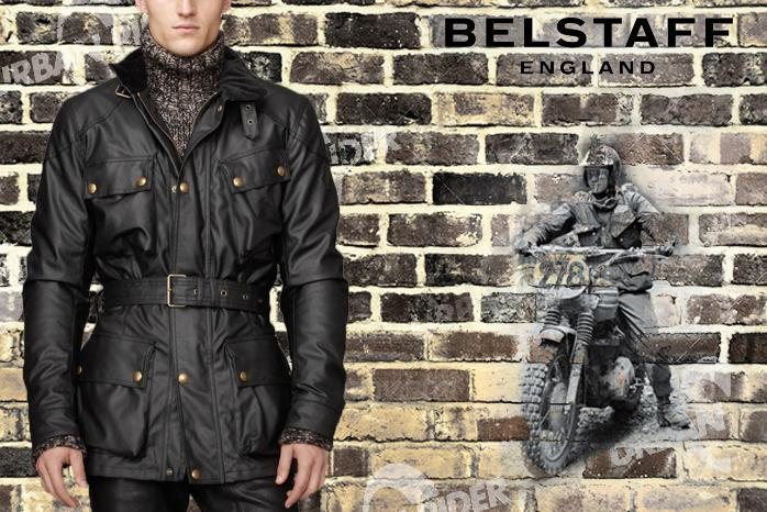 BELSTAFF TRIALMASTER TOURIST TROPHY WAX JACKET - BLACK