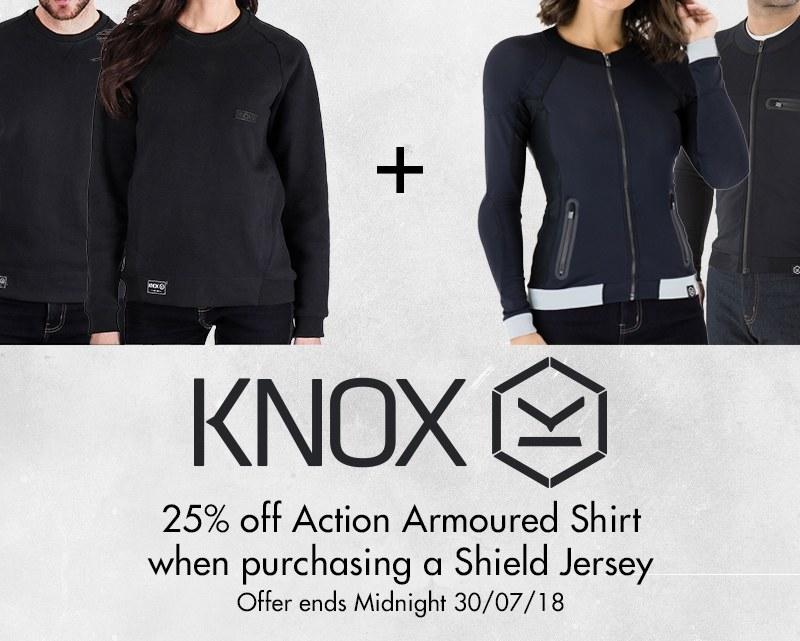 Knox Shield Sweatshirt & Action Armoured shirt
