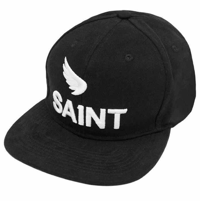SA1NT UNBREAKABLE BLACK 3D LOGO TWILL SNAPBACK CAP