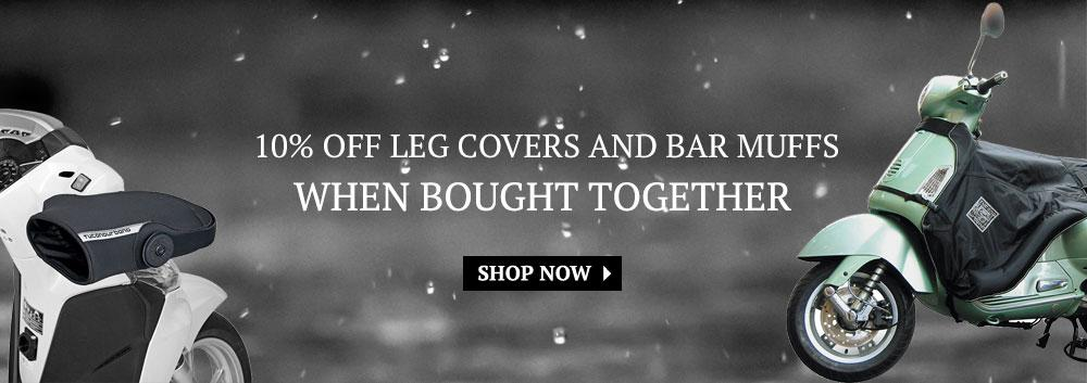 Leg cover & bar muff promotion: Get 10% off leg covers & bar muffs when bought together.
