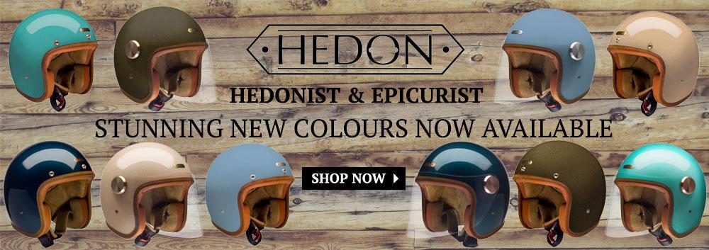 Hedon 2016 Colours: 2016 Hedon Collection, gorgeous new colours for the Hedonist and Epicurist open face helmets.