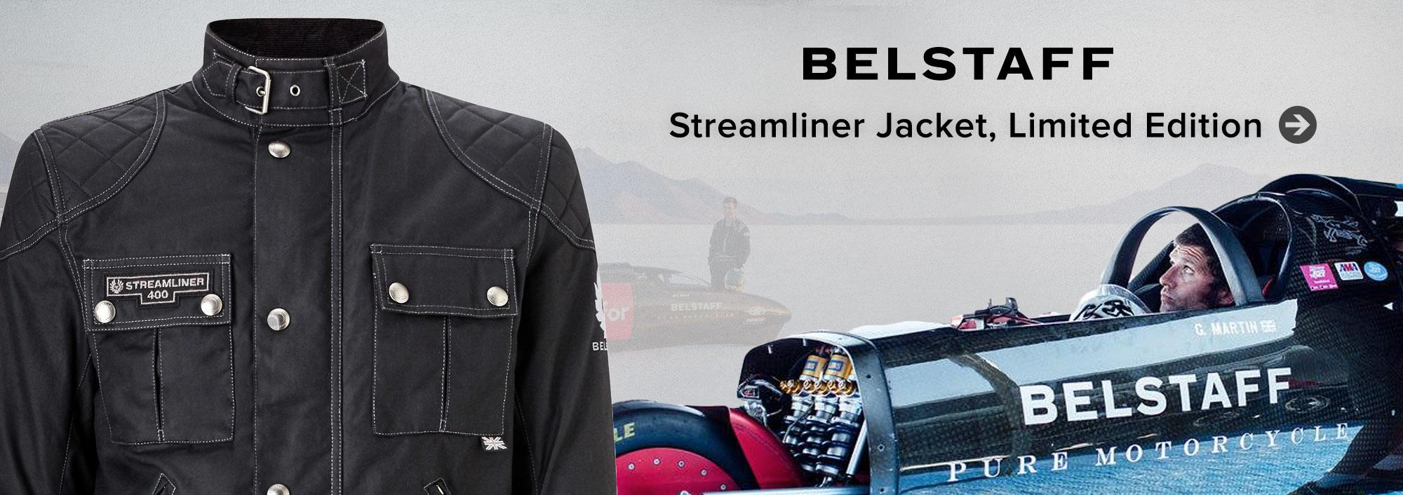 Belstaff Streamliner Jacket: Streamliner jacket produced to celebrate the land speed attempt by Guy Martin
