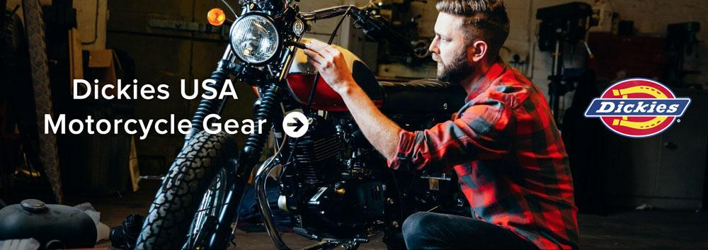 Dickies Motorcycle Gear: Dickies Motorcycle Outfitters are the collection of armour ready motorcycle wear from the American workwear giant