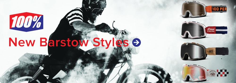100 Barstow 2016: New styles from 100% of the Barstow goggle including editions by Deus ex Machina and Dimitri Coste