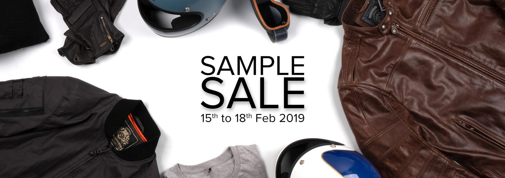 sample sale: