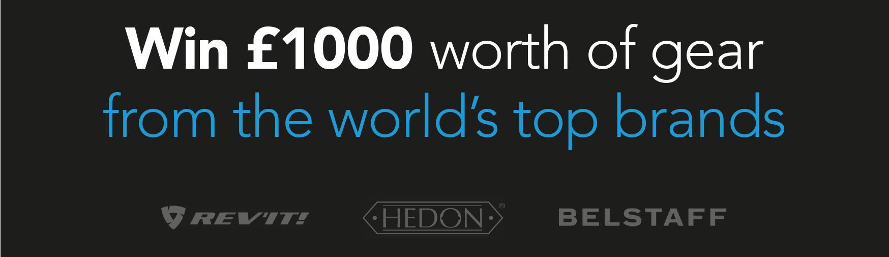Win £1000 worth of gear from the worlds top brands
