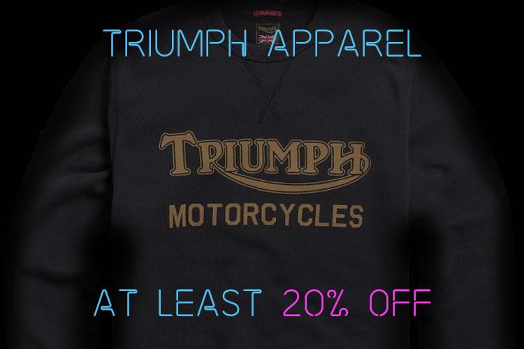 Black Friday Triumph Motorcycles Apparel